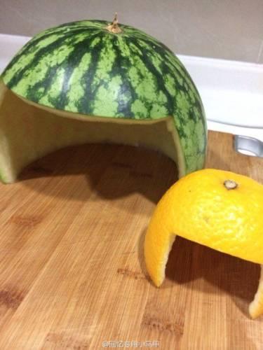 шапка из фруктов